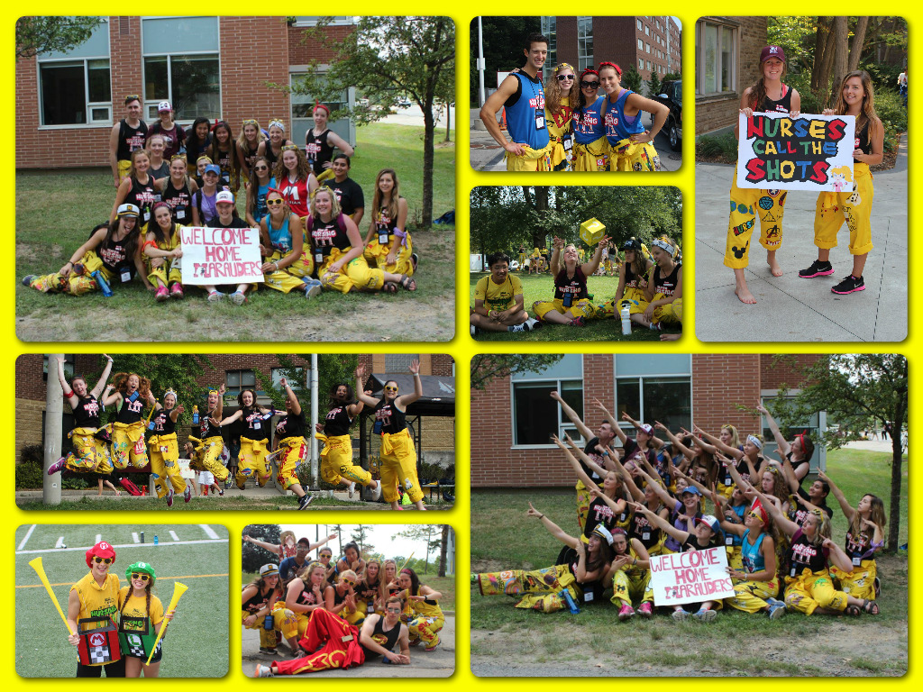 yellow suits collage